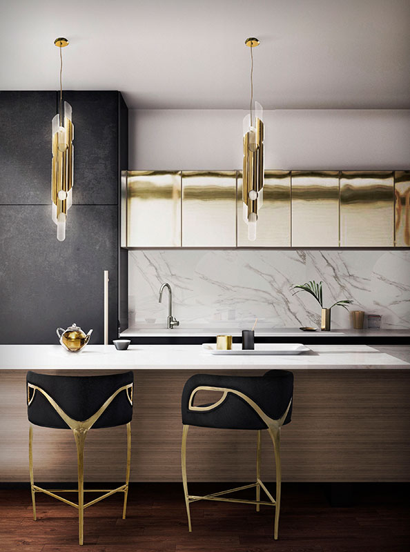 mixed metals decor kitchen