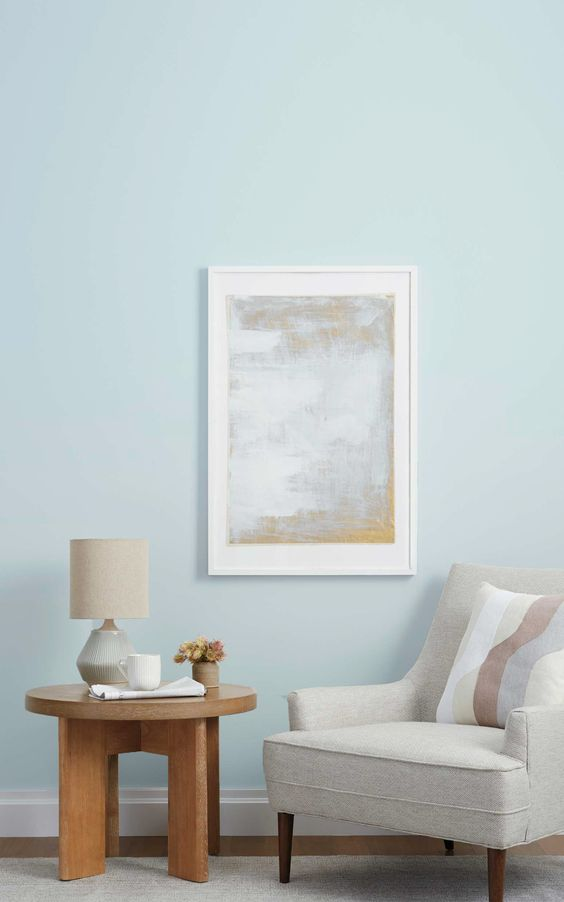 light blue decor corner