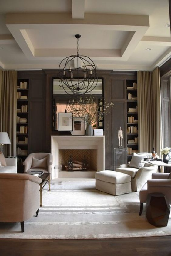 transitional style nude living room
